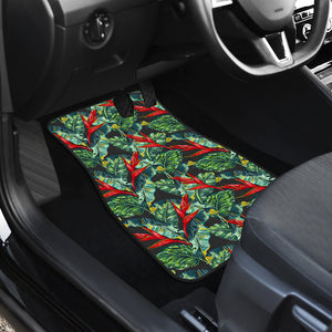 Banana Leaf Hawaiian Pattern Print Front Car Floor Mats
