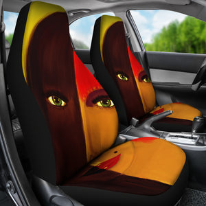 Abstract Woman Painting Universal Fit Car Seat Covers