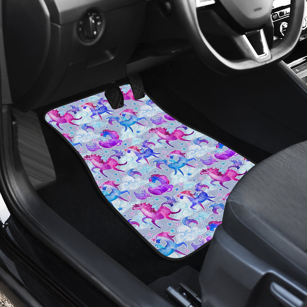 Unicorn Paradise Pattern Print Front Car Floor Mats