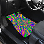 Vibrant Psychedelic Optical Illusion Front Car Floor Mats
