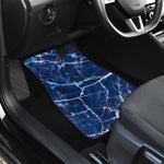 Blue White Marble Print Front Car Floor Mats