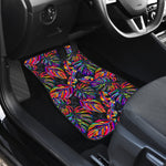 Colorful Leaf Tropical Pattern Print Front Car Floor Mats