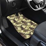 Vintage Palm Tree Pattern Print Front Car Floor Mats