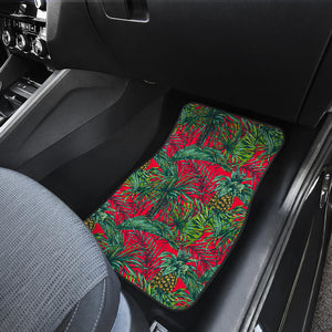 Pineapple Leaves Hawaii Pattern Print Front Car Floor Mats