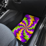 Dizzy Vortex Moving Optical Illusion Front Car Floor Mats