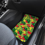 Leaf Watermelon Pieces Pattern Print Front Car Floor Mats