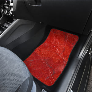 Red Marble Print Front Car Floor Mats