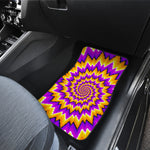 Spiral Expansion Moving Optical Illusion Front Car Floor Mats