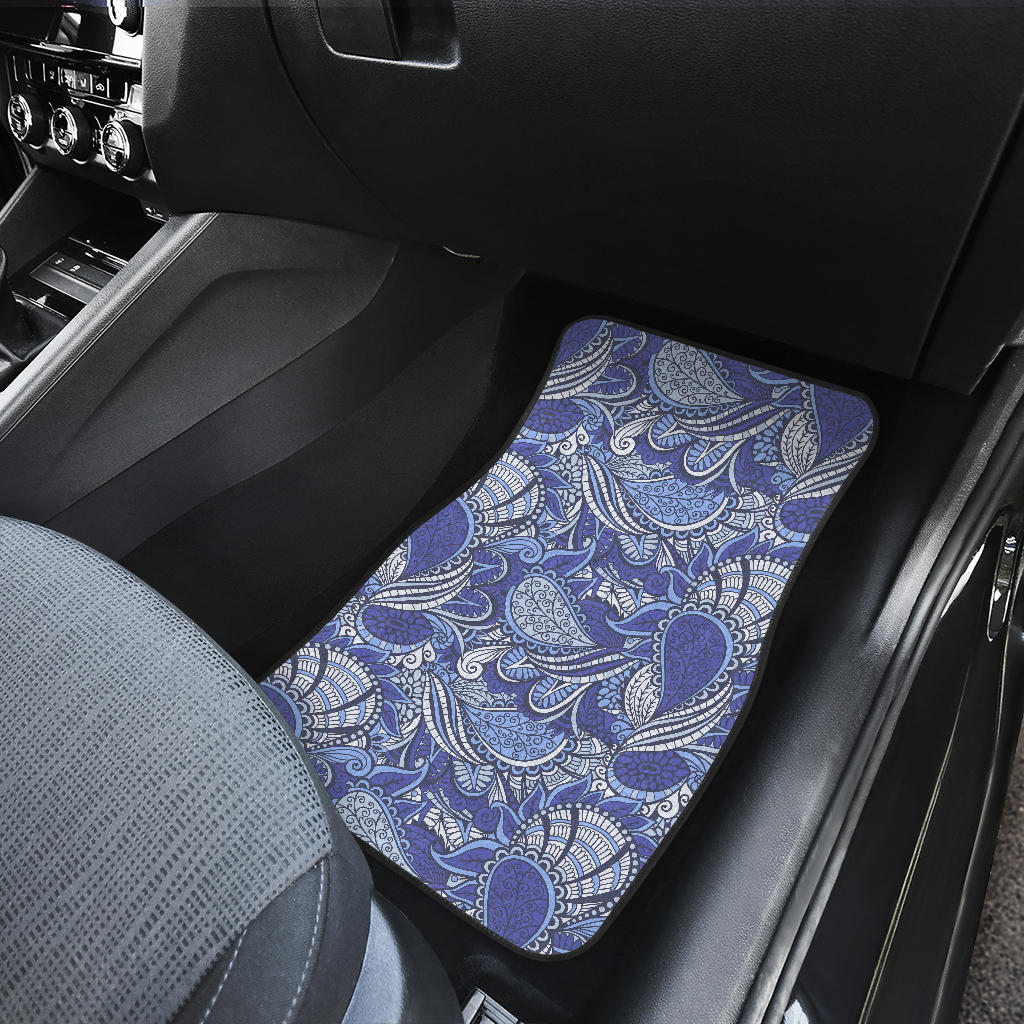 Pigeon Floral Bohemian Pattern Print Front Car Floor Mats