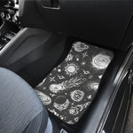 Black White Galaxy Outer Space Print Front Car Floor Mats