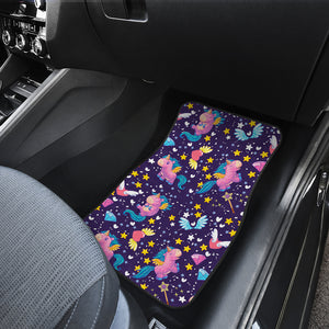 Cute Night Star Unicorn Pattern Print Front Car Floor Mats