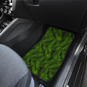 Night Tropical Palm Leaf Pattern Print Front Car Floor Mats