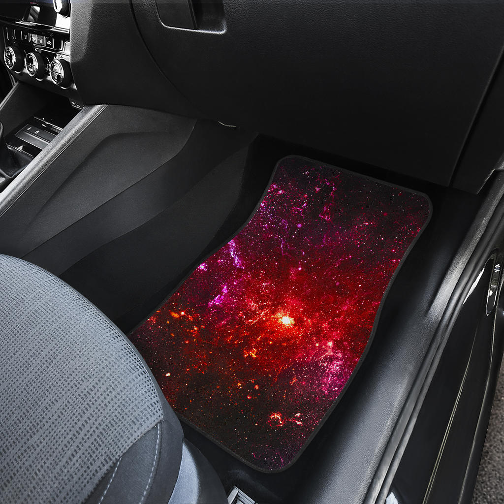 Fiery Nebula Universe Galaxy Space Print Front Car Floor Mats