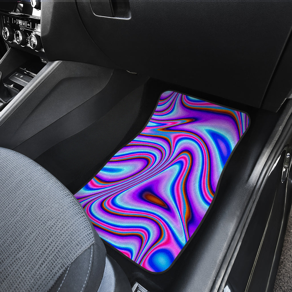 Purple Psychedelic Trippy Print Front Car Floor Mats