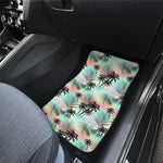 Pastel Palm Tree Pattern Print Front Car Floor Mats