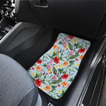 Hibiscus Flower Floral Pattern Print Front Car Floor Mats