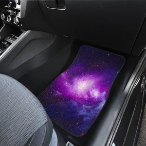 Purple Starfield Galaxy Space Print Front Car Floor Mats