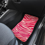 Hot Pink Zebra Pattern Print Front Car Floor Mats