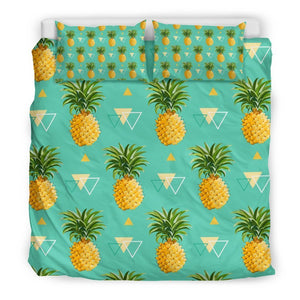 Geometric Pineapple Pattern Print Duvet Cover Bedding Set GearFrost