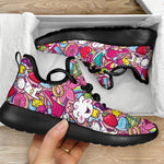 Girly Unicorn Cartoon Pattern Print Mesh Knit Shoes GearFrost