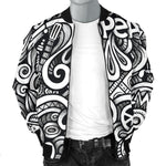 Graffiti Surfing Pattern Print Men's Bomber Jacket GearFrost
