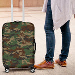 Green And Brown Camouflage Print Luggage Cover GearFrost