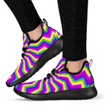 Green Dizzy Moving Optical Illusion Mesh Knit Shoes GearFrost