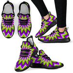 Green Flower Moving Optical Illusion Mesh Knit Shoes GearFrost