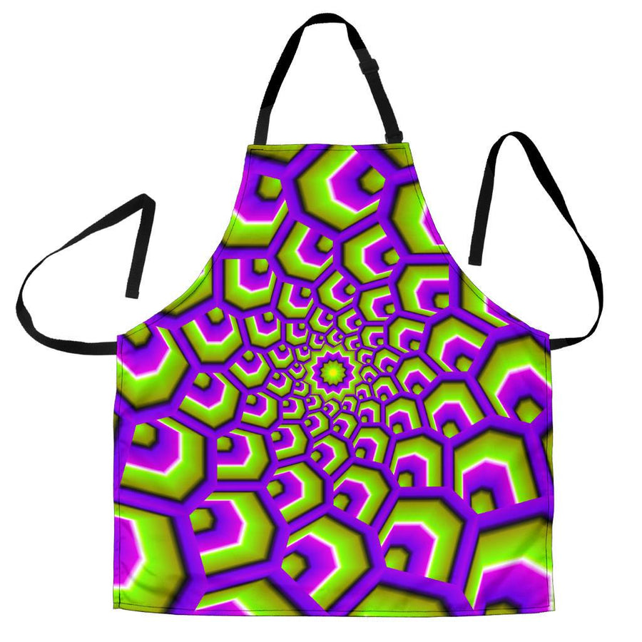 Green Hive Moving Optical Illusion Men's Apron GearFrost