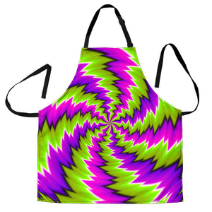 Green Vortex Moving Optical Illusion Men's Apron GearFrost