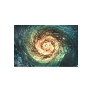 Green Yellow Spiral Galaxy Space Print 3 x 5 Indoor Area Rug GearFrost