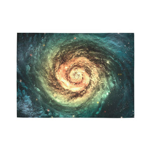 Green Yellow Spiral Galaxy Space Print 5 x 7 Indoor Area Rug GearFrost