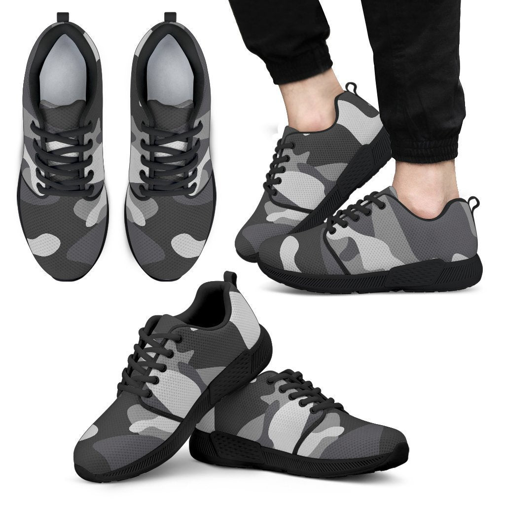 e2afbc5a1ddd1 Grey And White Camouflage Print Men's Athletic Shoes – GearFrost