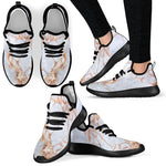 Grey Bronze Marble Print Mesh Knit Shoes GearFrost