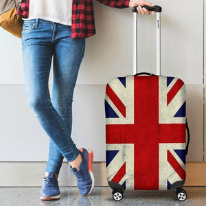 Grunge Union Jack British Flag Print Luggage Cover GearFrost