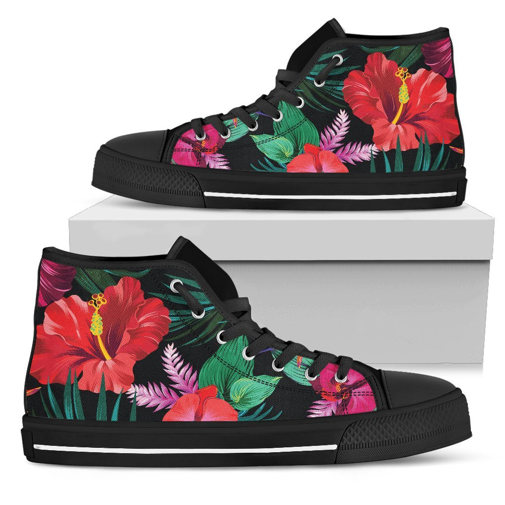 23fb0194f013a Hawaii Floral Flowers Pattern Print Women's High Top Shoes