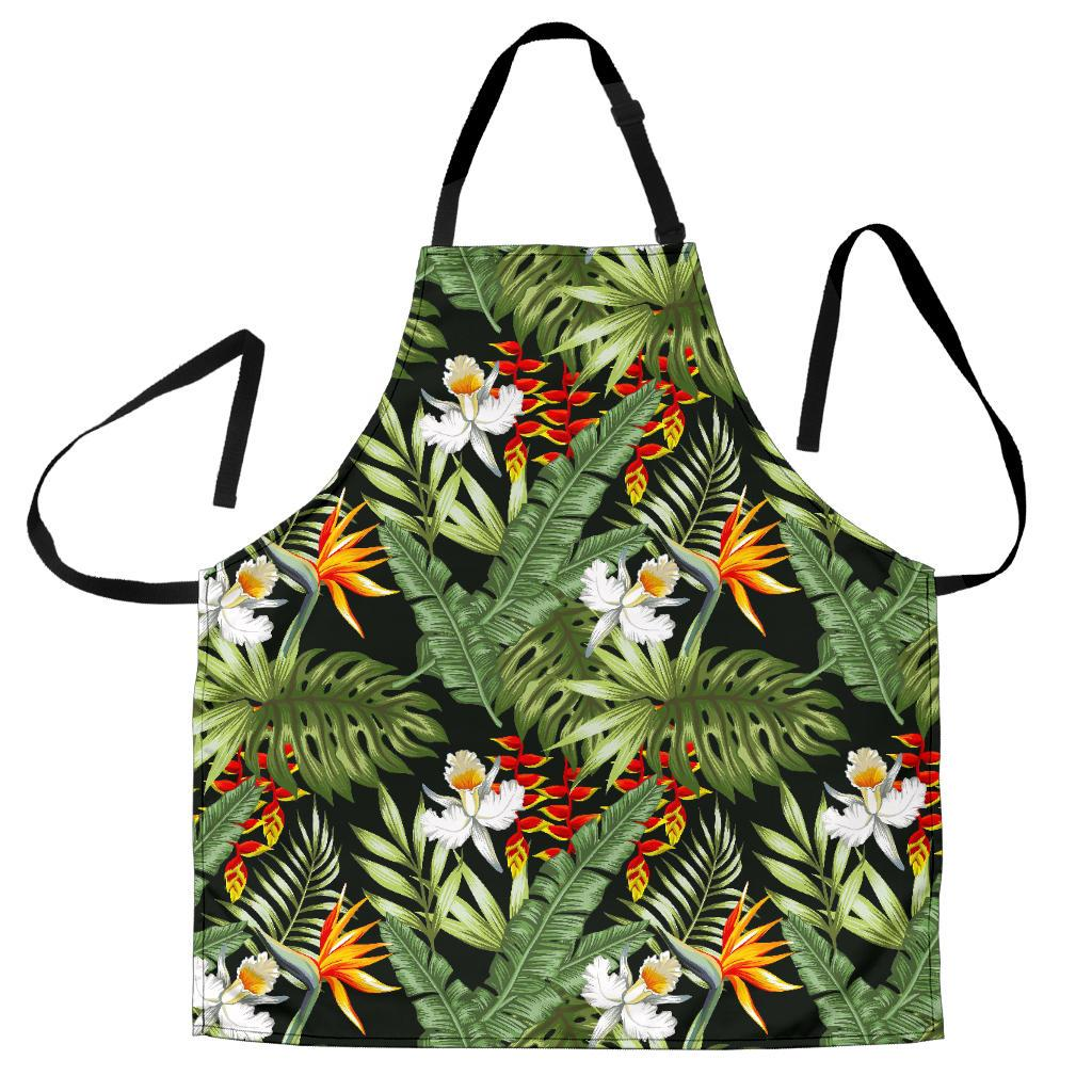 Hawaii Tropical Plants Pattern Print Men's Apron GearFrost
