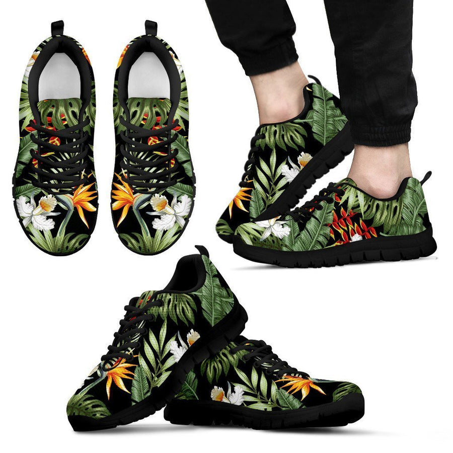 Hawaii Tropical Plants Pattern Print Men's Sneakers GearFrost