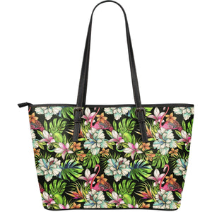 Hawaiian Aloha Tropical Pattern Print Leather Tote Bag GearFrost