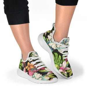 Hawaiian Aloha Tropical Pattern Print Mesh Knit Shoes GearFrost
