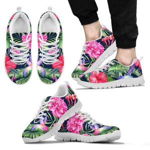 Hawaiian Tropical Birds Pattern Print Men's Sneakers GearFrost