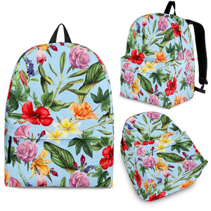 Hibiscus Flower Floral Pattern Print Backpack GearFrost