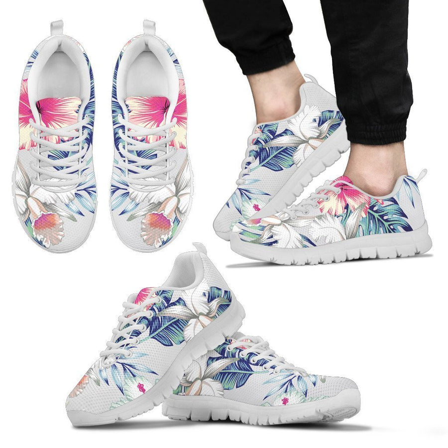 Hibiscus Orchids Hawaii Pattern Print Men's Sneakers GearFrost