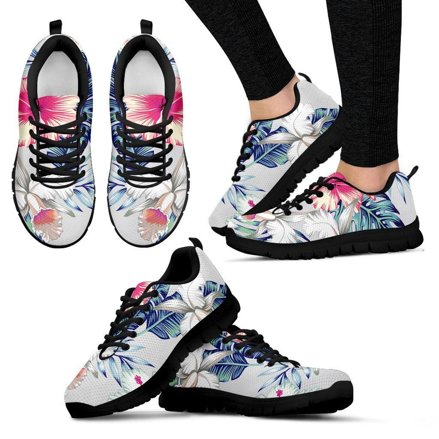 Hibiscus Orchids Hawaii Pattern Print Women's Sneakers GearFrost