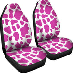 Hot Pink And White Cow Print Universal Fit Car Seat Covers GearFrost