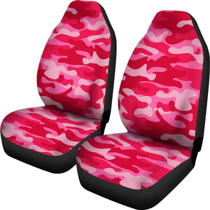 Hot Pink Camouflage Print Universal Fit Car Seat Covers GearFrost