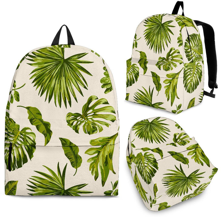 Light Tropical Leaf Pattern Print Backpack GearFrost