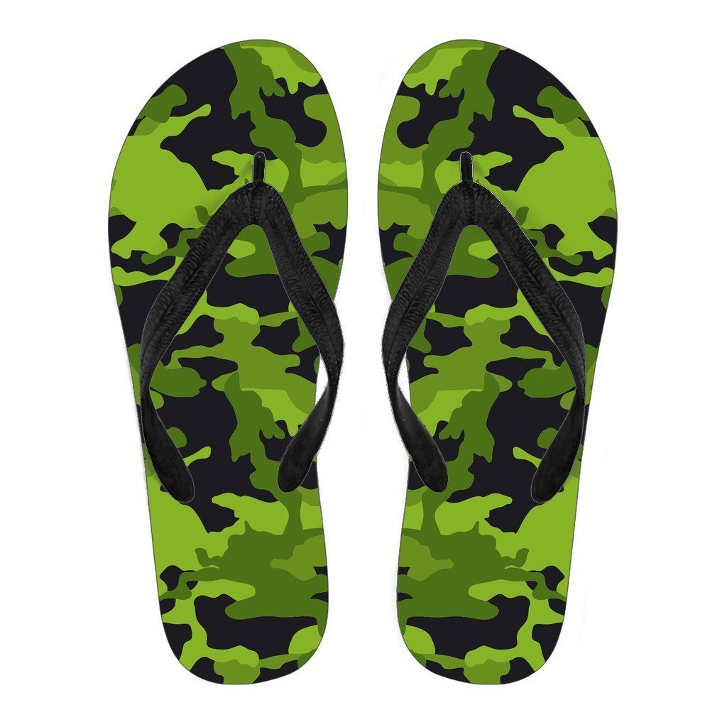 f0741f84194455 Lime Green Camouflage Print Men s Flip Flops. Product image 1 ...