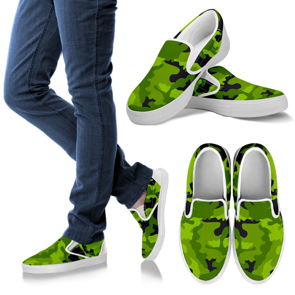 Lime Green Camouflage Print Women's