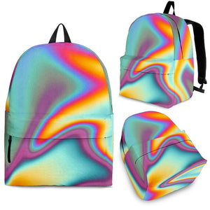 Liquid Holographic Trippy Print Backpack GearFrost
